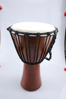 Djembe 40 cm , Mahony wood with goat skin- Indonesia