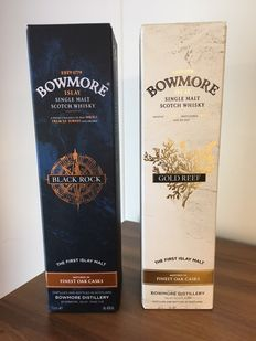 2 bottles - Bowmore Black Rock & Bowmore Gold Reef
