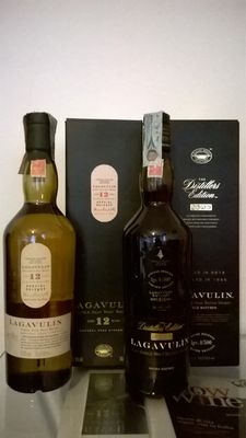 2 bottles - Lagavulin 12 years old Cask Strength (2003) & Lagavulin 'The Distillers Edition' distilled in 1996 and bottled in 2012