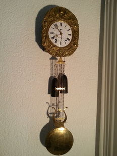 A French comtoise clock - a Cond-s/-Noireau - Approx. 1850