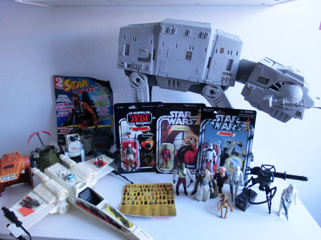 Star Wars 80s Toys : Star wars vintage modern re card toy collection