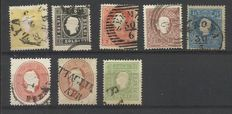 Lombardy Venetia 1859/1862, selection of stamps