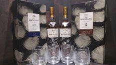 Macallan 12 New Year 2017 700ml Limited Edition Gift Set x 2 with 4 Glasses
