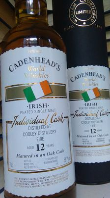 Cooley (Peated) - Old Cadenhead's bottling - 12 y.o. - Bottled February 2005