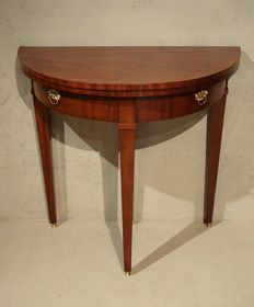A Louis XVI mahogany semi-circular (demi-lune) games table (small model) - the Netherlands - circa 1780-1800