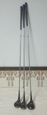 Spalding - 3 Vintage Wooden Golf Clubs