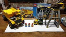 Trains 9V / City - 4514 + 7344 - Cargo Crane + Dump Truck