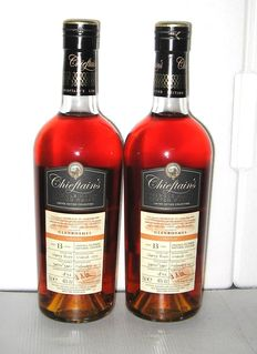 2 bottles - Glenrothes 1999 13 Years Old- Speyside - 70cl. - 46% - Chieftain's
