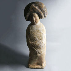 Large pottery Tang lady figure - 36 cm