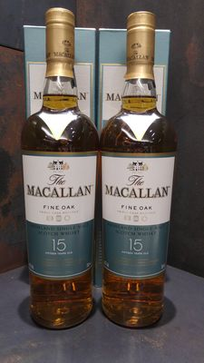 Macallan 15 Year Old Fine Oak 700Ml x 2