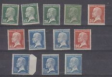 France 1923/1959 – 10 complete series between Yvert 170-181 and 1193-1194