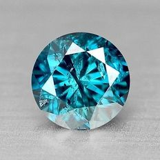 0.16 cts.  brilliant cut diamond Deep Blue I3