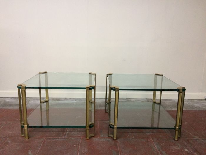 Ghyczy Salon Tafel.Peter Ghyczy Brass And Glass Coffee Tables Model T24d Catawiki
