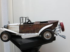 Rolls Royce - large tin decorative model - boot tail - 43.5 cm long