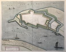 Netherlands, Germany, Heerewaarden, Schenkenschans, Fort Nasau, St. Andries; Joan Blaeu / N. van Geelkercken - 2 copper engravings - 1649 / 1654