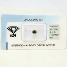 Fancy Deep Green SI1 diamond 0.54 ct.