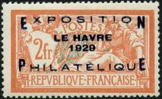 France 1929 – Le Havre Philatelic Exhibition – signed, includes Calves certificate – Yvert No. 257A