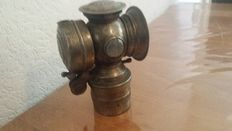 Carbide lamp used for the bicycle buyer.. copper Cannon