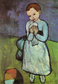Pablo Picasso (after) Child with Dove