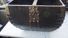 Folk art seed box with iron fittings - the Netherlands - ± 1800