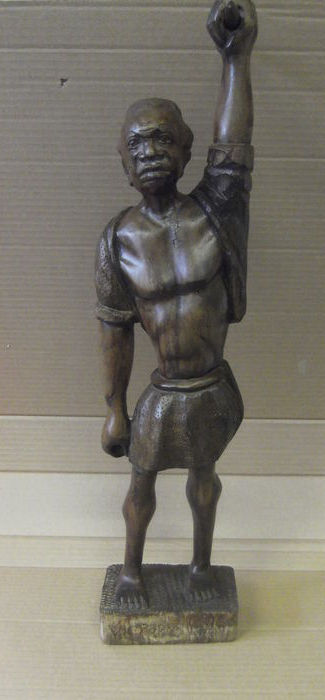 Victory Man - carved sculpture from oak wood, not signed.