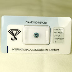 Fancy Deep Blue diamond 0.83 ct.