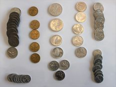 "Italy, Republic - Lot of 60 coins with 5 Lire ""Dolphin"" 1956"