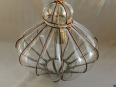"Hanging lamp from ""Venetian"" glass"
