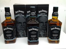 3 bottles - Limited Edition Jack Daniel's. Master distiller n° 4.