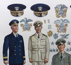 "Funcken - Original gouache illustration (p.139) for ""Les Uniformes & Armes vol. 3 - Guerre 1939-45"" - (1974)"