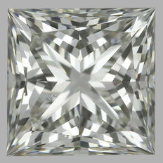Princess 0.90 ct H SI1 - IDEAL CUT - EGL USA WITH UGS APPRAISAL#1021-original image -10x