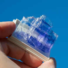 Halite with rare colors blue and purple - 47 x 40 mm - 34gr