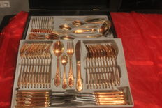 "Festive Dinnerware - Esmeyer Gold Cutlery 72 pieces - Model ""Gloria Katharina"" - 18/10 stainless steel, 24 carat gold plated, very rare!"