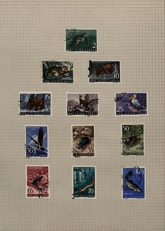 Jugoslavia and Serbia, 3 collections with postage.