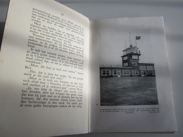 Book And Various Items With Advertising For Klm And Schiphol