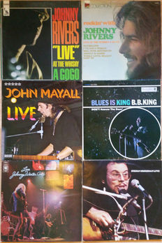 5 Blues icons of the 60s Live (7 LPs): B.B. King, Johnny Rivers (2x) , Johnny Winter And, John Mayall, Stefan Grossman