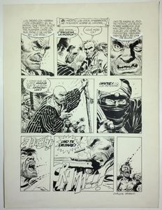 Breccia, Enrique - Original comic page - (p. 9) - El Mandril - (1980s)