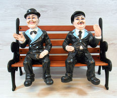 Laurel and Hardy on Garden Bench