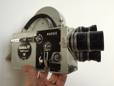 Pathé Webo reflex 16mm movie camera kit with 3 RARE Angenieux prime lenses