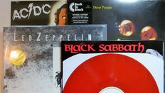 Black Sabbath / Led Zeppelin / Deep Purple / ACDC * Great lot of 4 LP's including 'Walpurgis - The Peel Session 1970' on limited RED vinyl