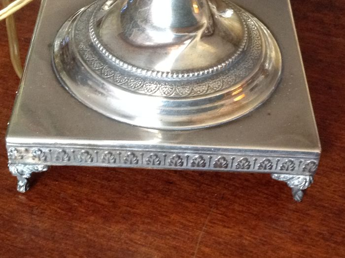 Silver table lamp art nouveau revival italy 1950 for Division 2 table 98 99