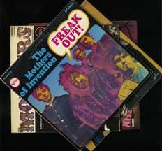 Freak out!!! Lot of four albums by Frank Zappa and The Mothers of Invention and Ruben and the Jets