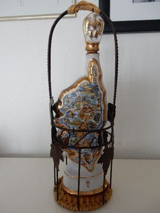 Lovely and large Napoleon old bottle on display representing Corsica - in porcelain - 20th century - France