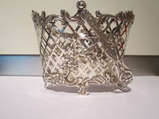 Silver wool or tangle basket, h. Nieuwold, Amsterdam, 1948