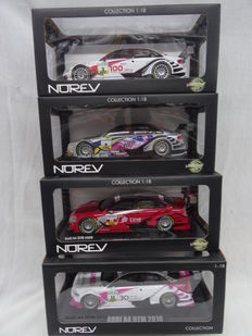 Norev - Scale 1/18 - Lot with 4 x Audi A4 DTM models