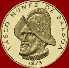 Panama – 100 balboas of gold. 1975 – Franklin mint (U.S.A.). 500th anniversary of the birth of Vasco Nuñez de Balboa.