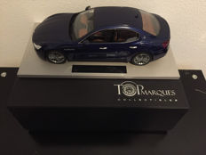 Top Marques BBR-scale 1/18-Maserati Ghibli 2013 Blue Emotion