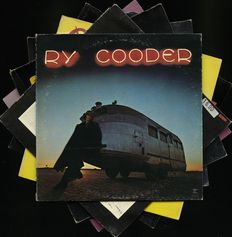 Lot of seven solo albums by Ry Cooder, an American musician, songwriter, film score composer, and record producer
