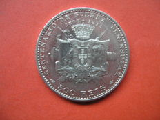 500 Reis Coin -  100th Year Anniversary of the Peninsular War  - Manuel II from 1910 - 835 silver.