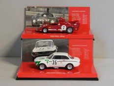 Minichamps - Scale 1/43 - Lot with 2 models: Alfa Romeo GTA 1300 Junior Jarama 1972 & Alfa Romeo 33 TT 12 #2 Winner 1000 km Monza 1975
